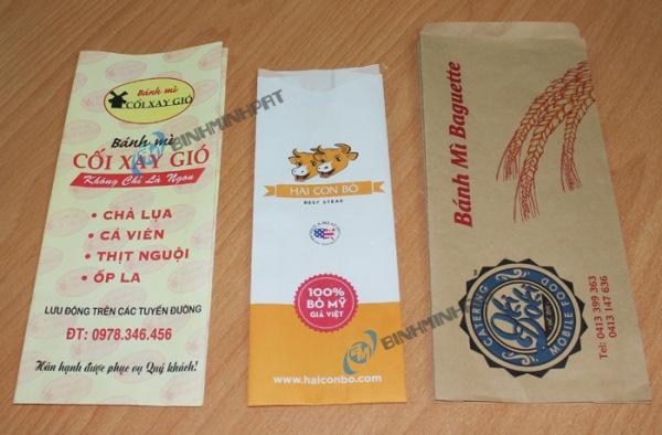 Mẫu bao bì, túi giấy đẹp dùng đựng bánh mì
