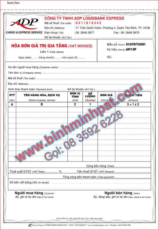 Công ty in hóa đơn uy tín, chất lượng tại Tp.HCM
